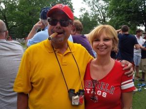 Johnny Cigar and Fran at Saratoga.