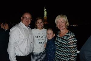 Tom Anderson and family led the Papagayo E. Norwegian entourage, enjoyed slice of New York
