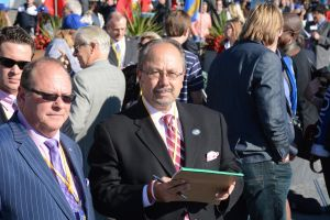 JC and old crony Barry Lefkowitz await the start of the Yonkers International