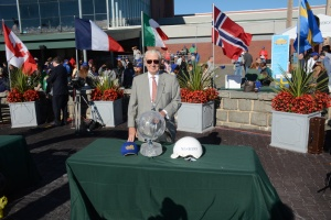 Raceway president Tim Rooney proudly returned the Yonkers International after a two-decade absence.