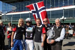 Yonkers International winner's circle, Norwegian style