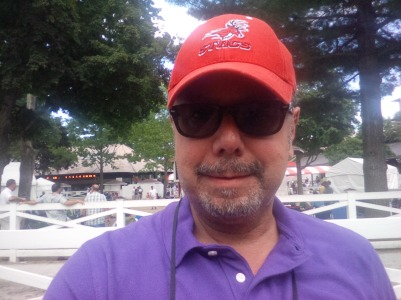 JOHNNY WITH FAIRFIELD CAP AT SARATOGA