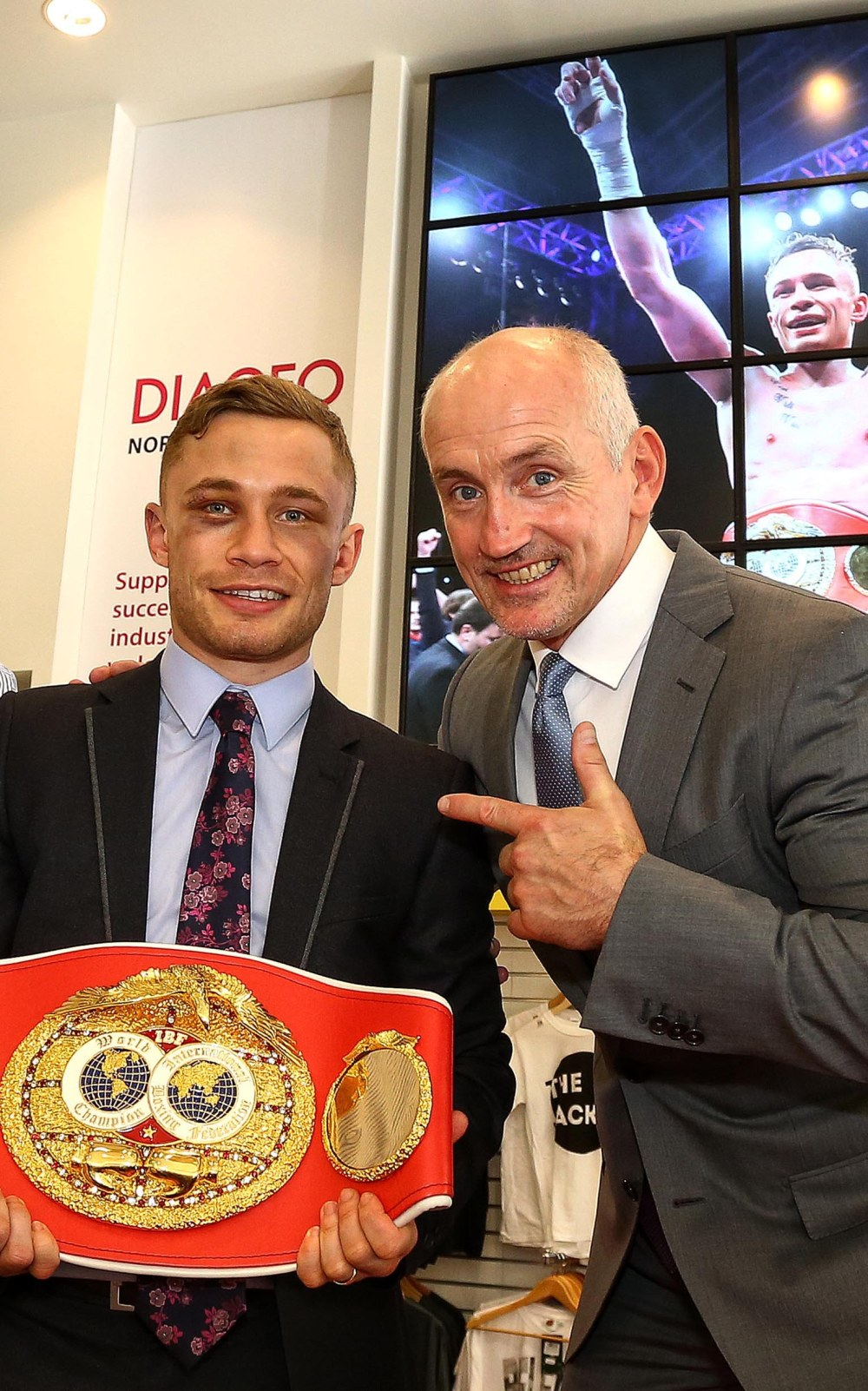 World Champion Carl Frampton at Visit Belfast