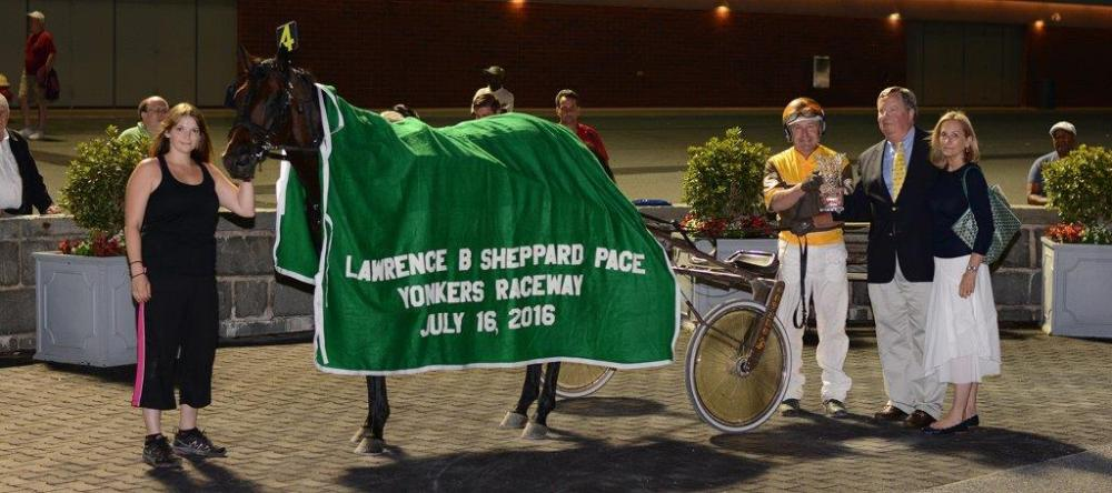 7-16-16 L-B Sheppard Pace win circle-Chris Brokate pix