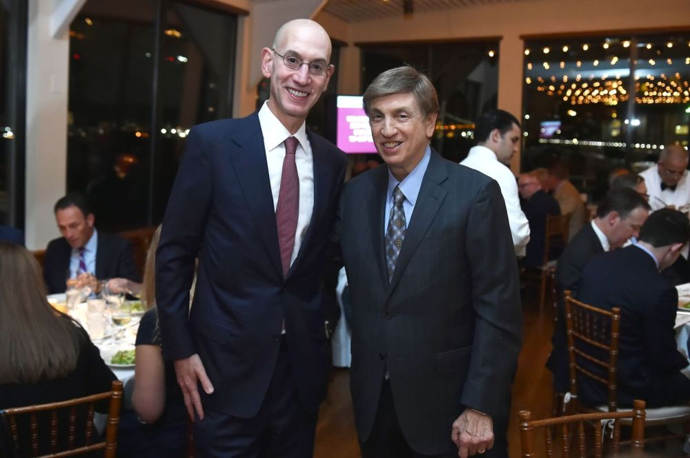 ADAM SILVER AND MARV ALBERT
