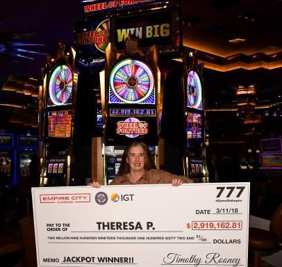 RECORD JACKPOT WINNER THERESA P. $2.9 MILLION